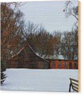 Christmas @ The Barn Wood Print