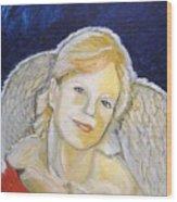 Christmas Angel   Finished Wood Print