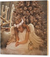 Christmas Angel Wood Print