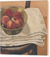 Christmas Apples Wood Print