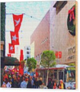 Christmas At Macys In San Francisco . Photoart Wood Print
