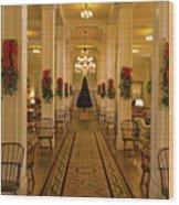 Christmas At The Mount Washington Hotel Wood Print
