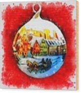 Christmas Ball Ball Wood Print