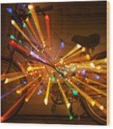 Christmas Bike Abstract Wood Print