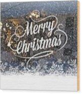 Christmas Blizzard Wood Print