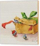 Christmas Box Wood Print