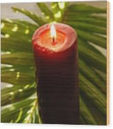 Christmas Candle 2 Wood Print