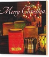 Christmas Candles Wood Print
