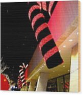 Christmas Candy Canes Wood Print