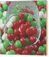 Christmas Candy Wood Print
