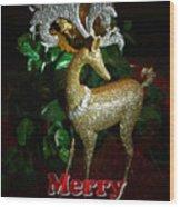 Christmas Card Wood Print by Chris Brannen