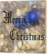 Christmas Card Design Merry Christmas Wood Print by Karen Musick