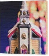 Christmas Chapel 2 Wood Print