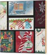 Christmas Collage  Wood Print