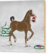 Christmas Colt Wood Print
