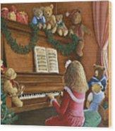 Christmas Concert Wood Print