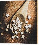 Christmas Cooking Wood Print