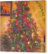 Christmas Corner Wood Print