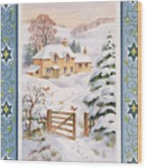 Christmas Cottage Wood Print