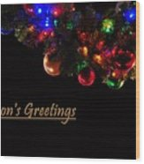 Christmas Decoration Greeting  Wood Print