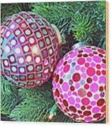 Christmas Dots No. 1-1 Wood Print
