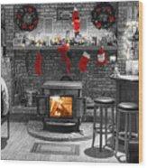 Christmas Eve Magic Wood Print
