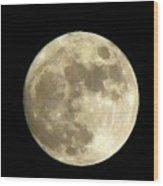 Christmas Eve Moon Wood Print