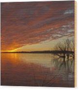 Christmas Eve Sunset  Wood Print
