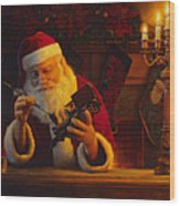 Christmas Eve Touch Up Wood Print by Greg Olsen