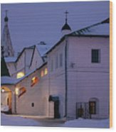 Christmas Evening Light In The Temple Suzdal Wood Print