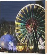 Christmas Fair Scotland Wood Print
