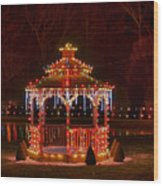 Christmas Gazebo Wood Print
