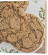 Christmas Gingerbread Cookies Wood Print