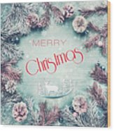 Christmas Greeting Card, By Imagineisle Wood Print