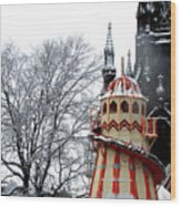 Christmas Helter Skelter Scotland Wood Print