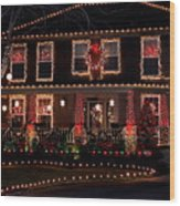 Christmas House-2 Wood Print