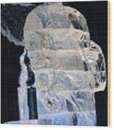 Christmas Ice Sculpture Angel Wood Print