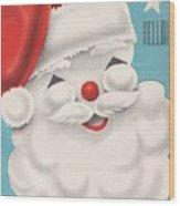 Christmas Illustration 1231 - Vintage Christmas Cards - Santa Claus Wood Print