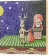 Christmas Illustration Wood Print