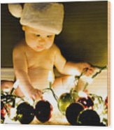 Christmas In A Baby's Eyes Wood Print