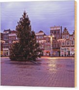 Christmas In Amsterdam The Netherlands Wood Print