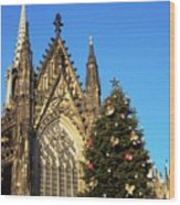 Christmas In Cologne Wood Print
