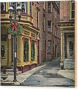 Christmas In Jim Thorpe Wood Print