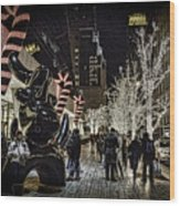Christmas In Nyc Wood Print