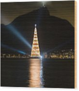 Christmas In Rio Wood Print