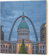 Christmas Jefferson National Expansion Memorial St Louis 7r2_dsc3574_12112017 Wood Print