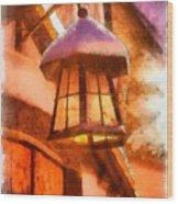 Christmas Lamp Wood Print