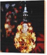 Christmas Lantern Wood Print