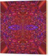 Christmas Light Abstract 3 Wood Print
