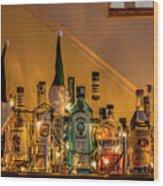 Christmas Lights And Bottles 4197t Wood Print